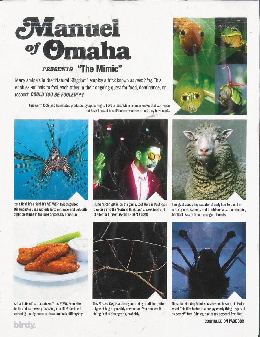 Manuel of Omaha Mimics
