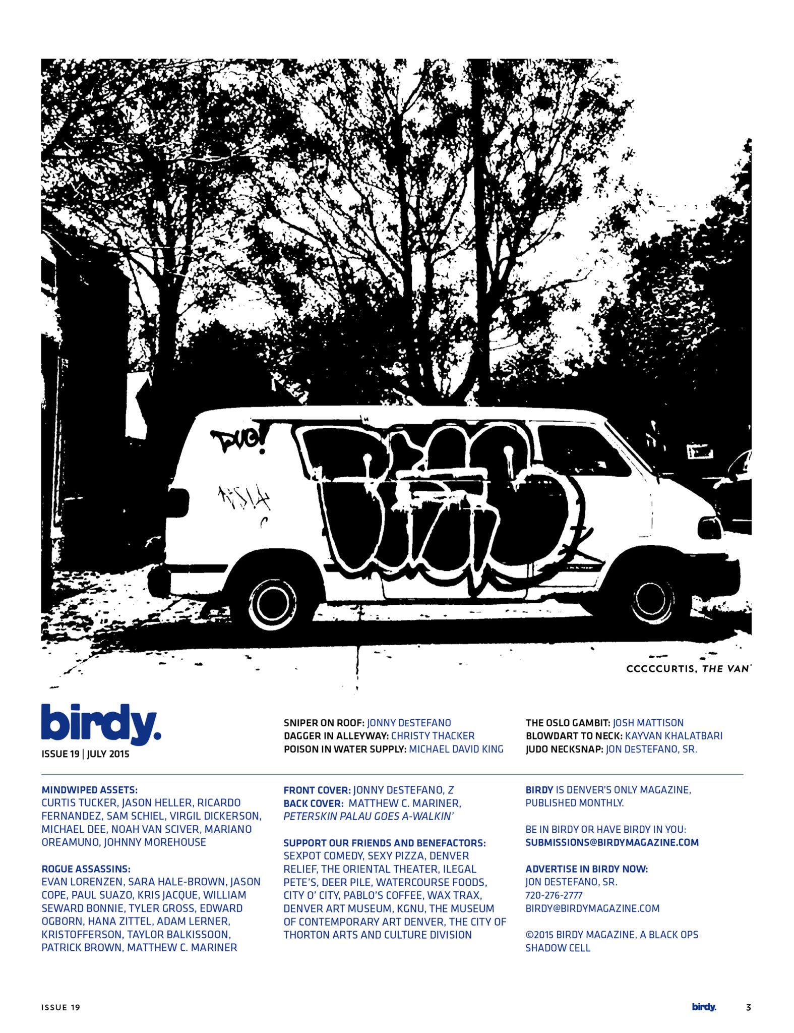Issue 019 Index