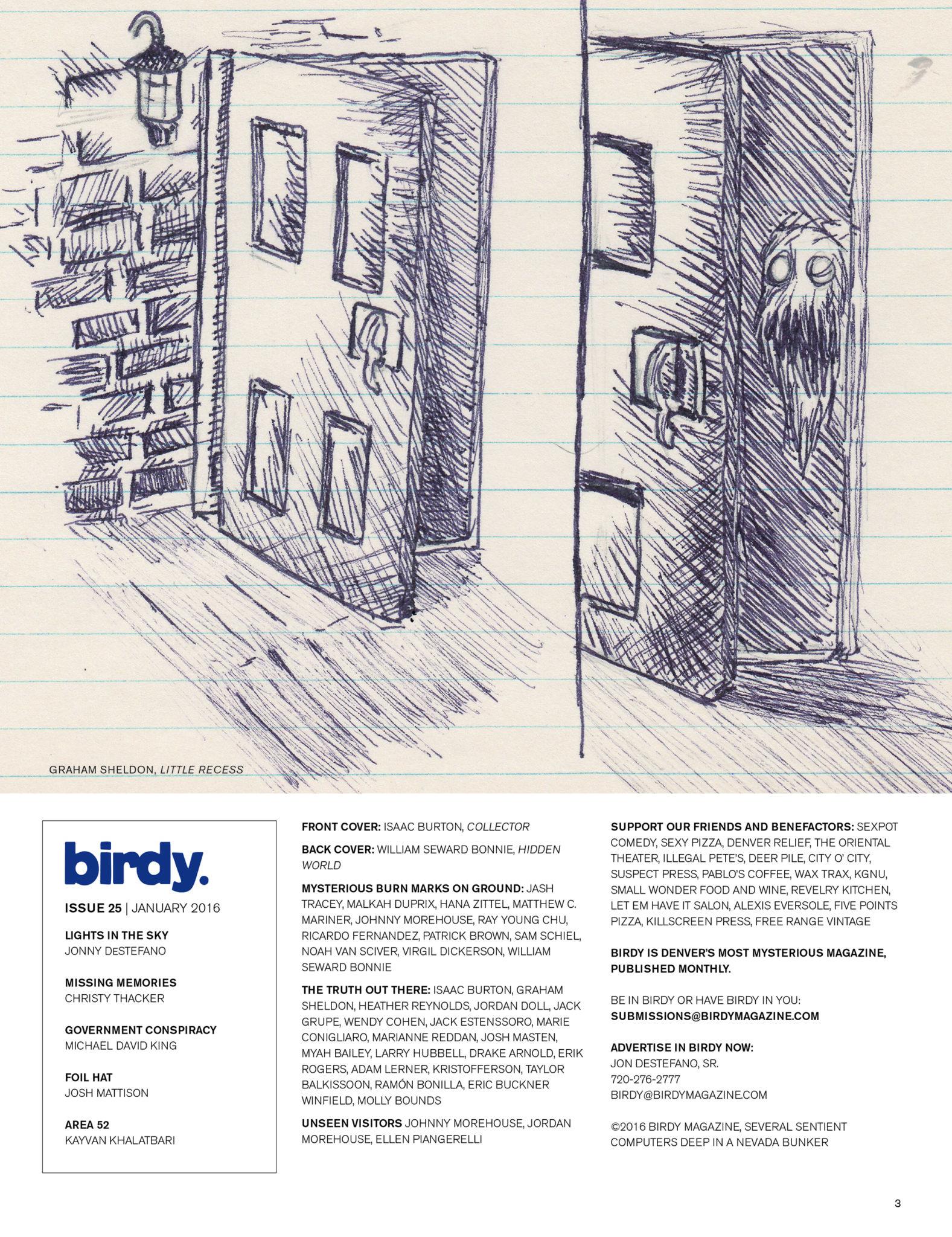 Issue 025 Index