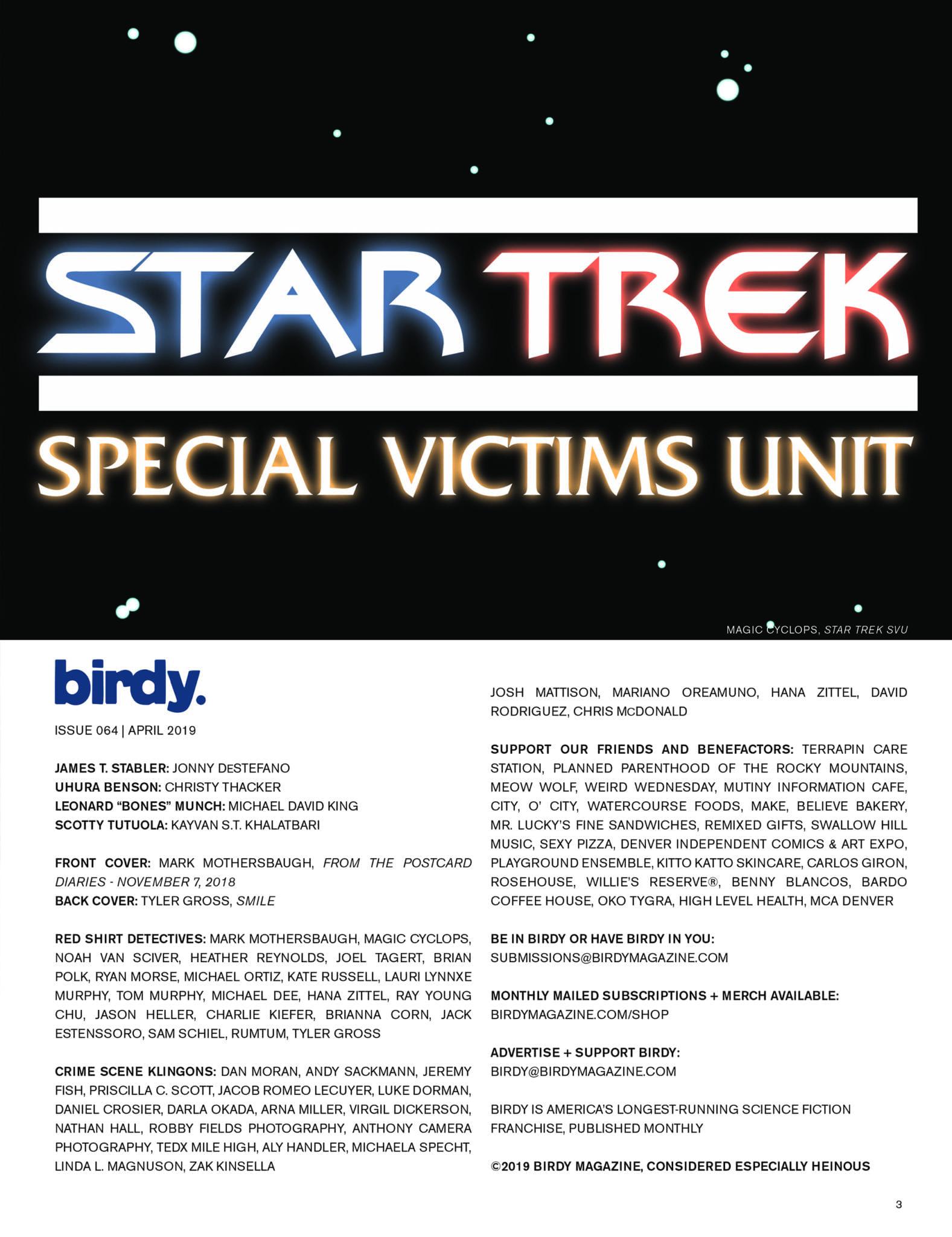 Issue 064 Index