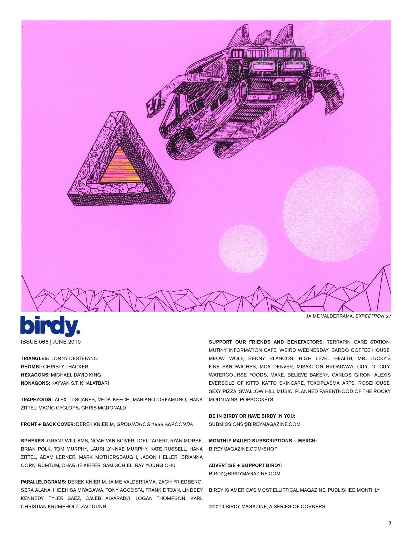 Issue 066 Index