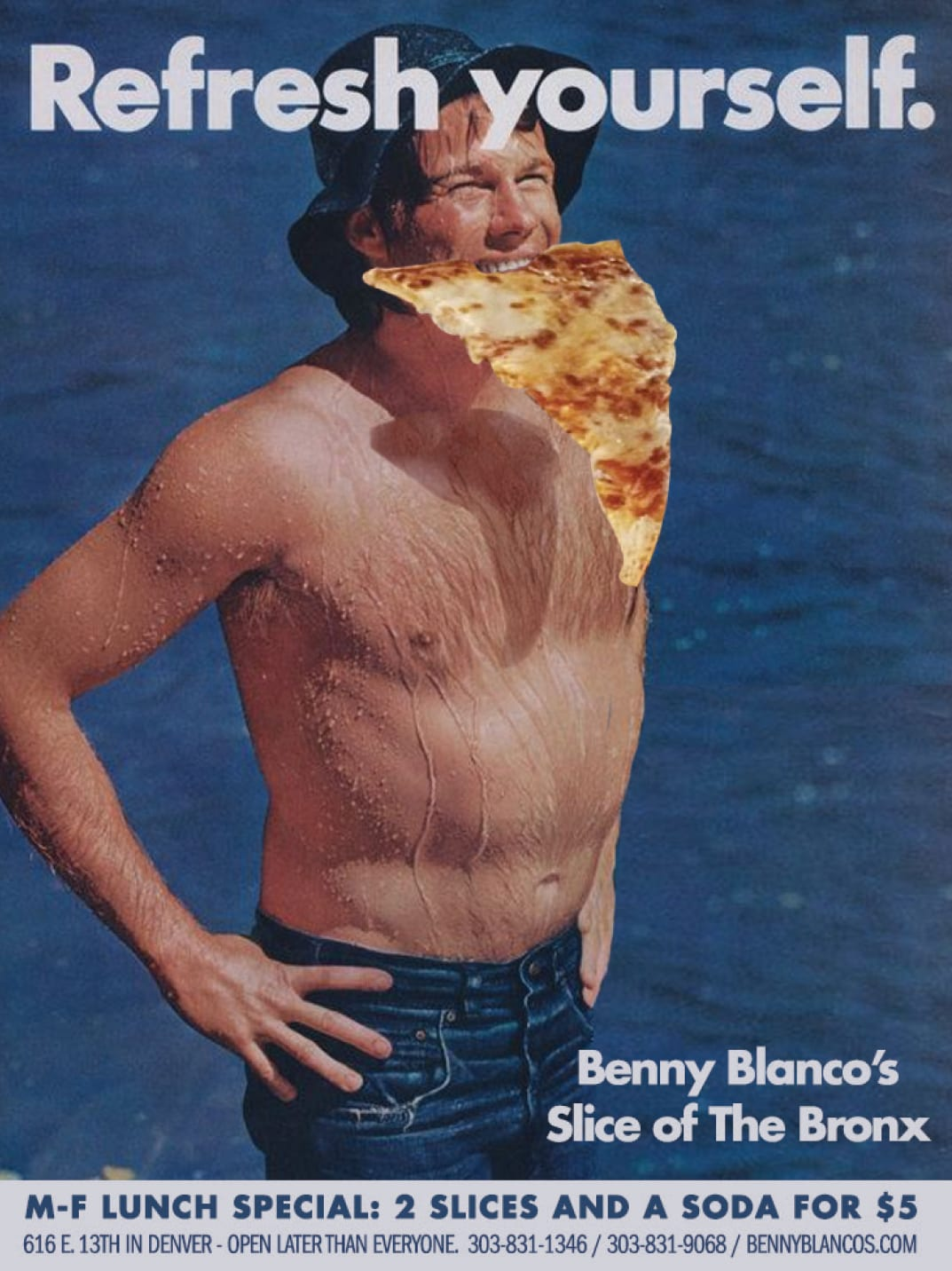 Benny Blancos pizza by the ocean
