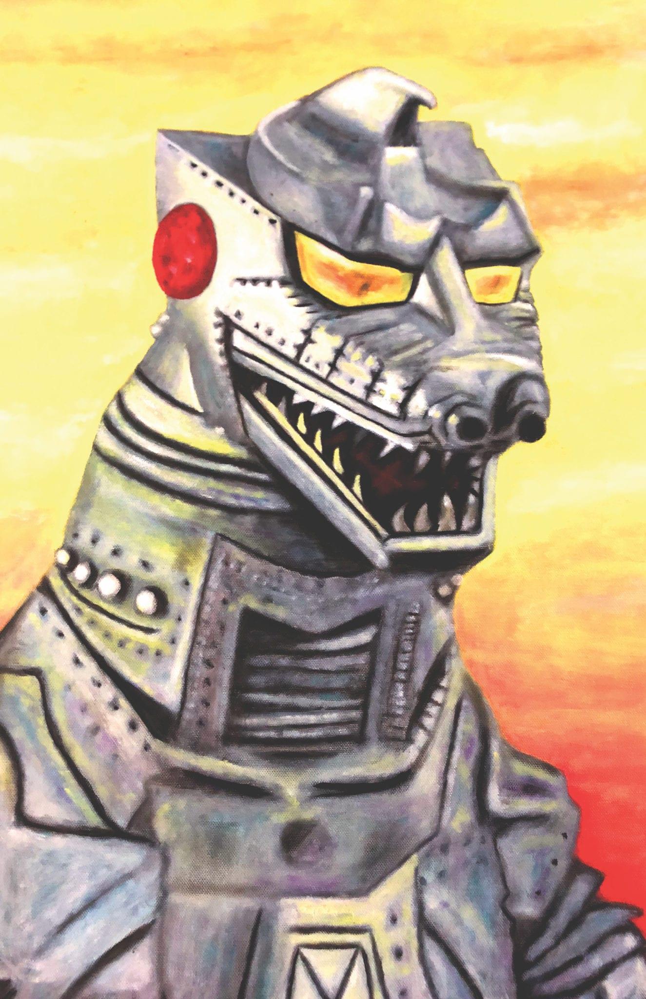 Jonny DeStefano artwork robot godzilla