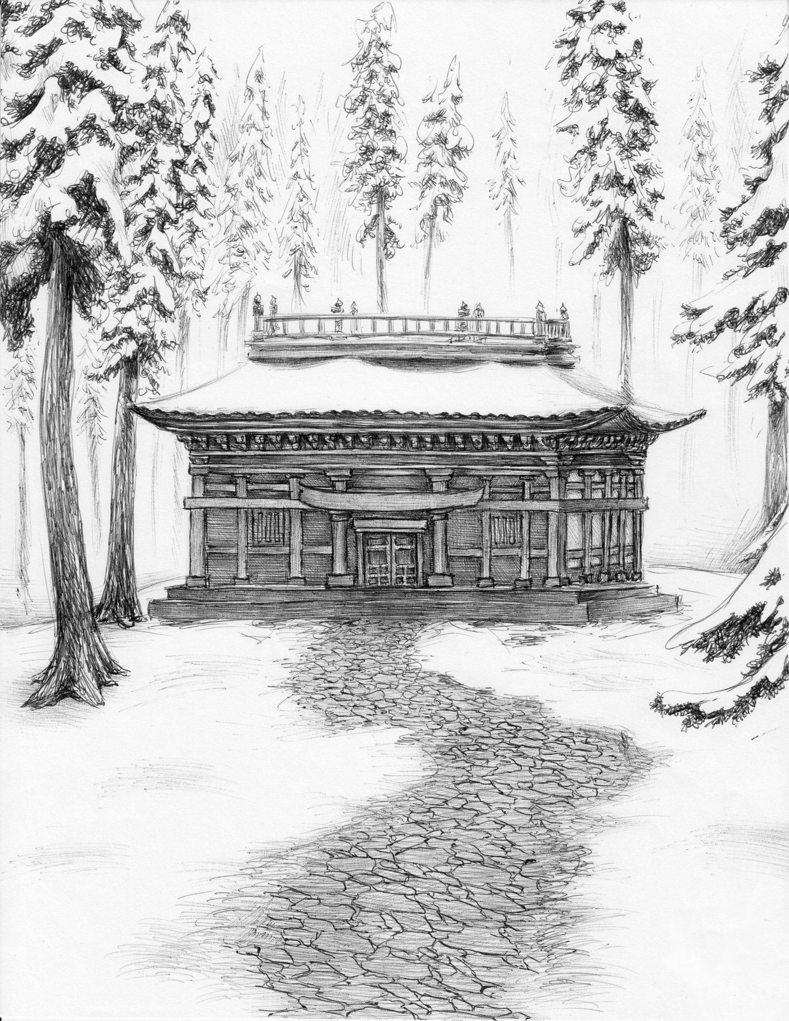School in the Snow art by Dan Moran