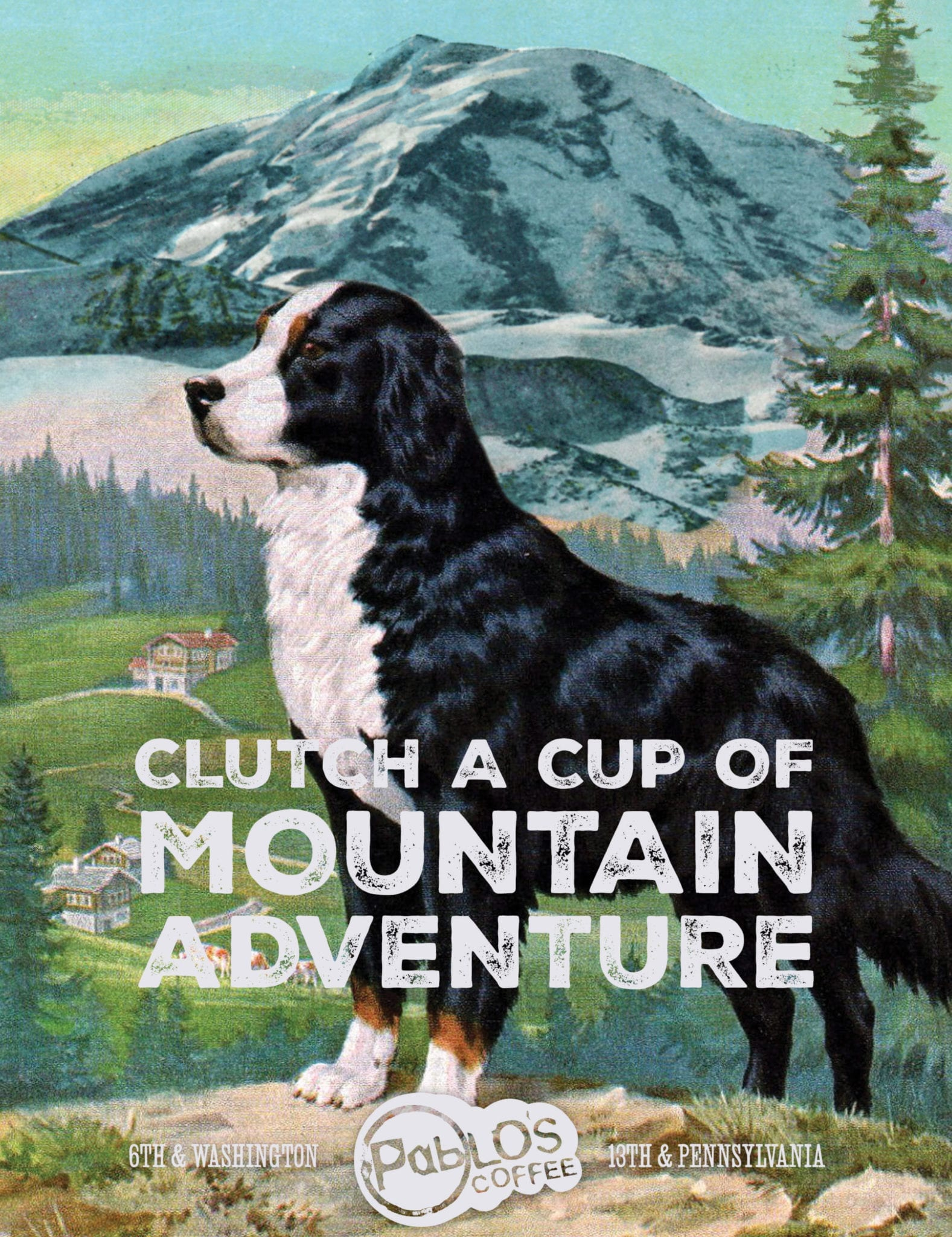 Pablos Coffee mountain ad
