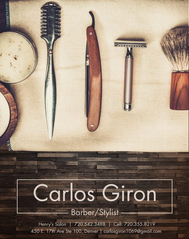 Carlos Giron barber ad