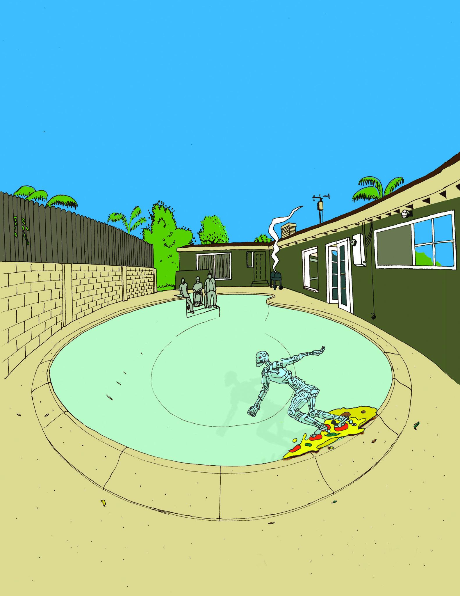 robots skateboarding