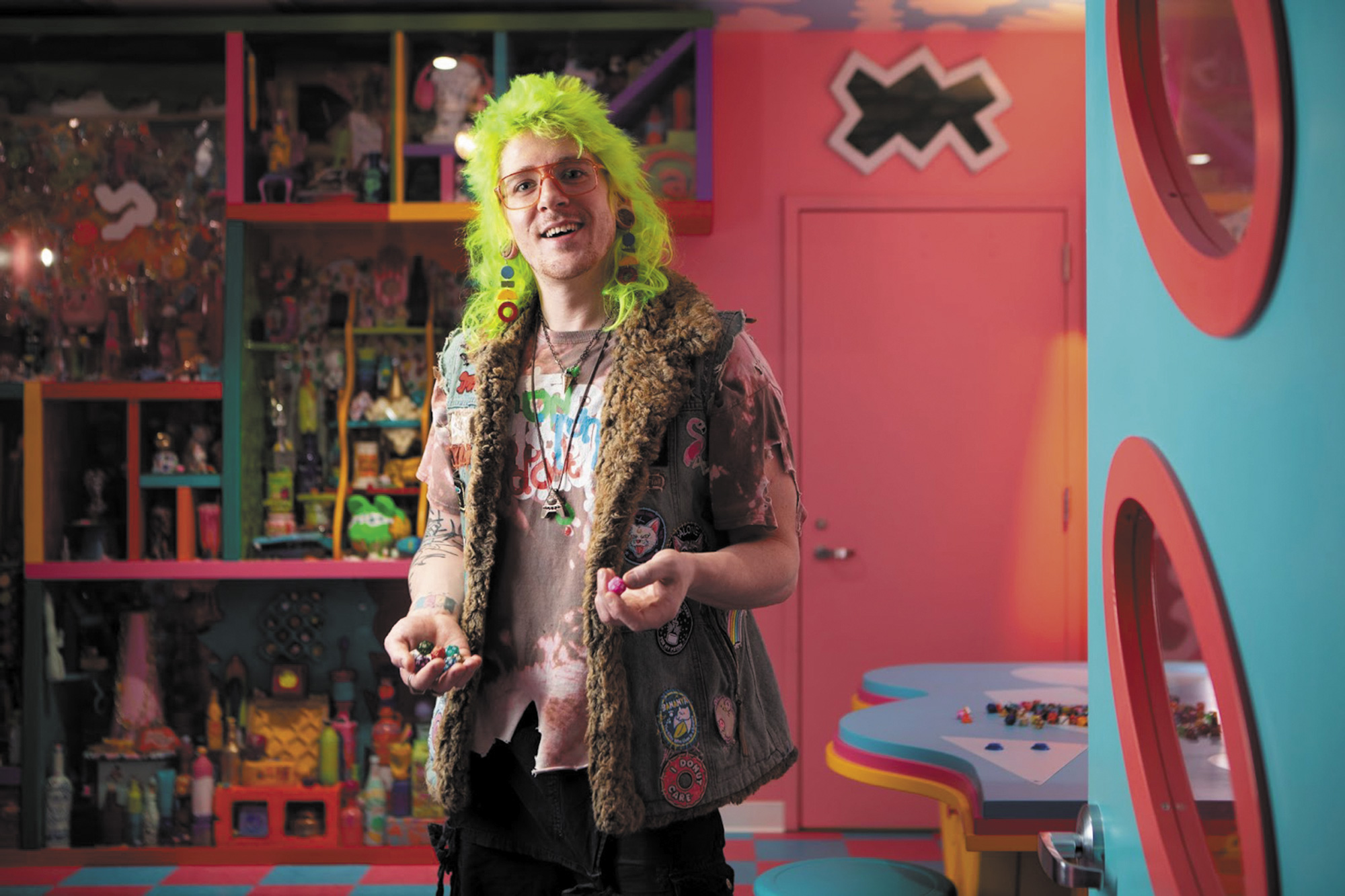 """Kyle-Singer-inside-""""Sa-Lawn""""-at-Meow-Wolf-Denver.-Photo-by-Kate-Russell-Birdy-092-Dave-Jasmon"""